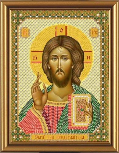 Набор для вышивания бисером Христос Спаситель, 13 см х 17 см354320