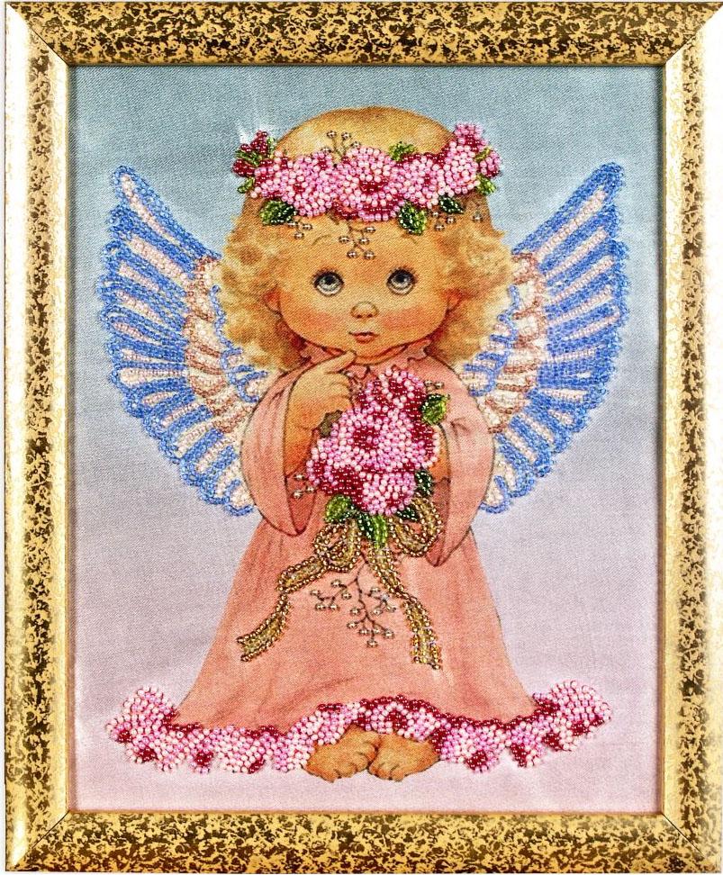Набор для вышивания бисером Alisena Ангелочек, 21 см х 26 см. ВН1003383089