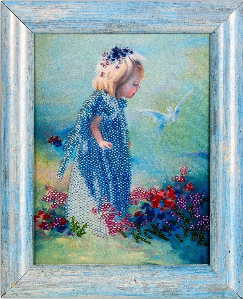 Набор для вышивания бисером Alisena Девочка, 16 х 20 см ВН1004383090