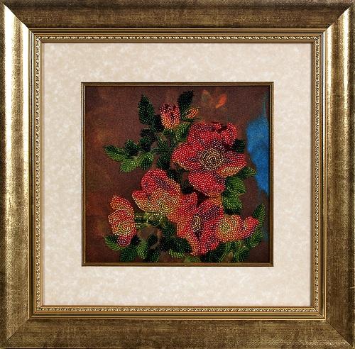 Набор для вышивания бисером Alisena Цветы, 20 см х 20 см. ВН1026383157