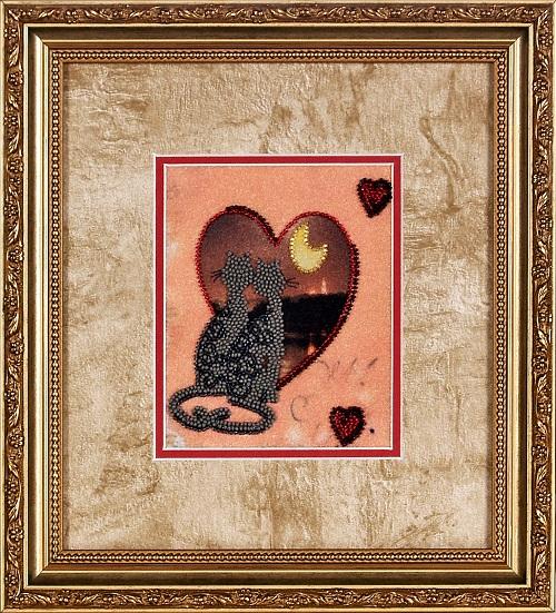 Набор для вышивания бисером Alisena Романтика, 12 х 15 см ВН1032383158