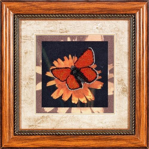 Набор для вышивания бисером Alisena Бабочка, 18 х 18 см ВН1039383160