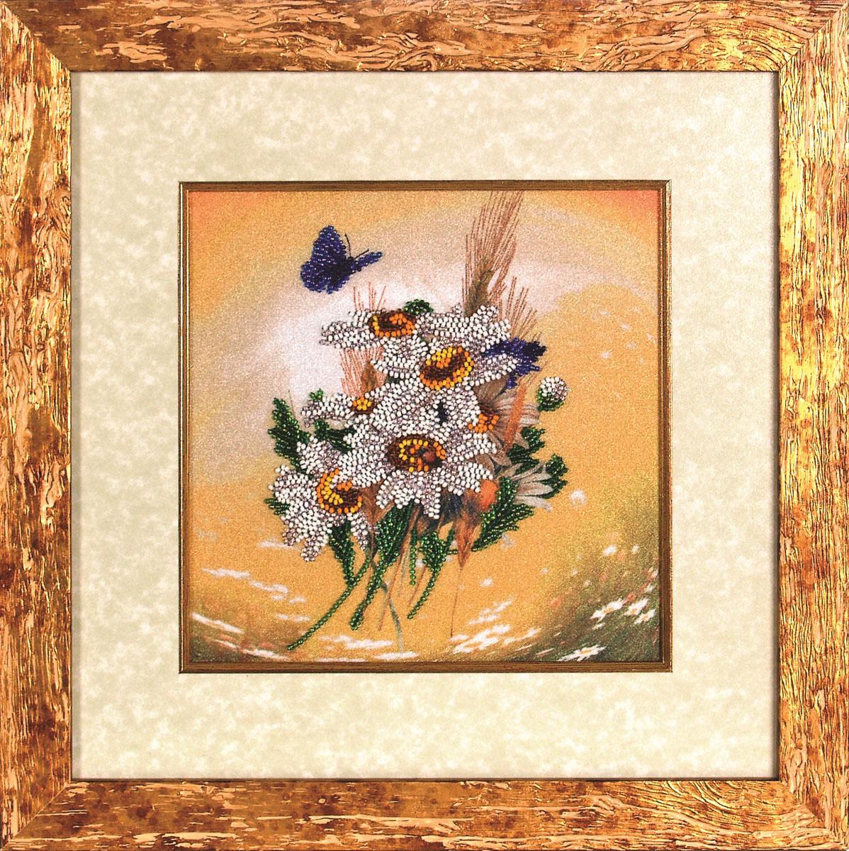 Набор для вышивания бисером Alisena Цветы, 20 х 20 см ВН1054383186
