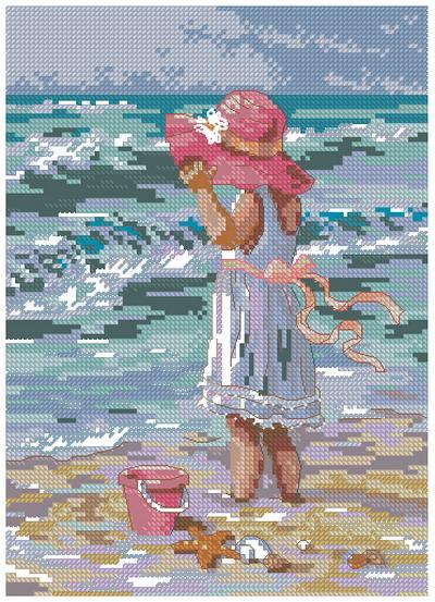 Набор для вышивания Dimensions Девочка на берегу, 13 см х 18 см65078-DMSКрасивый рисунок-вышивка, выполненный на канве, выглядит оригинально и всегда модно. Работа, сделанная своими руками, создаст особый уют и атмосферу в доме и долгие годы будет радовать вас и ваших близких. Набор для вышивания содержит все необходимые материалы. Вышивка выполняется швом счетный крест. Дополнительные швы - полукрест, строчный стежок, французский узелок и т.д. исполняются для придания вышивке большей выразительности. В состав набора входит: - канва Aida 18 белого цвета (100% хлопок, рисунок не нанесен), - вышивальные нитки-мулине (27 цветов, шерсть), - цветная символьная схема, - инструкция, - игла для вышивания.