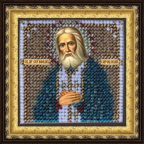 Набор для вышивания бисером Св. Прп. Серафим Саровский, 6,5 см х 6,5 см