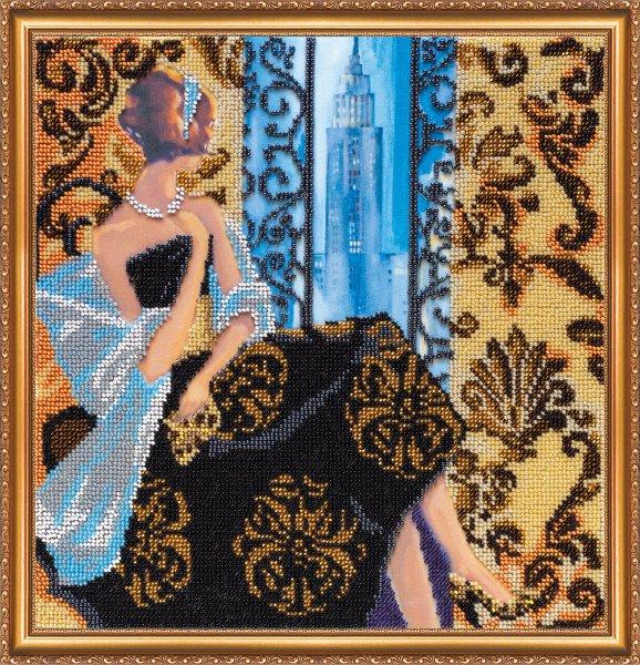 Набор для вышивания бисером Окно в Нью-Йорк, 30 см х 30 см693805