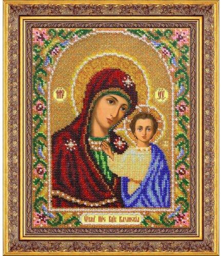 Набор для вышивания бисером Пресвятая Богородица Казанская, 25 см х 20 см694393