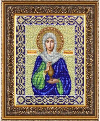 Набор для вышивания бисером Святая Анастасия Узорешительница, 19,5 х 25 см 694396694396