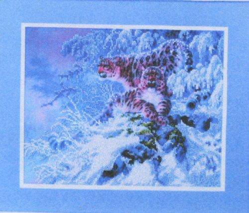 Набор для вышивания бисером Alisena Снежный барс, 31 см х 25 см. ВН1095694519
