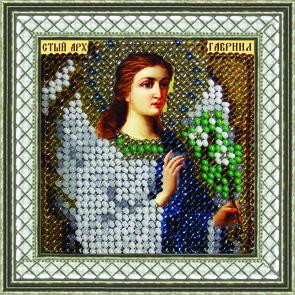 Набор для вышивания бисером Икона Святой Архангел Гавриил, 6,5 см х 6,5 см695413