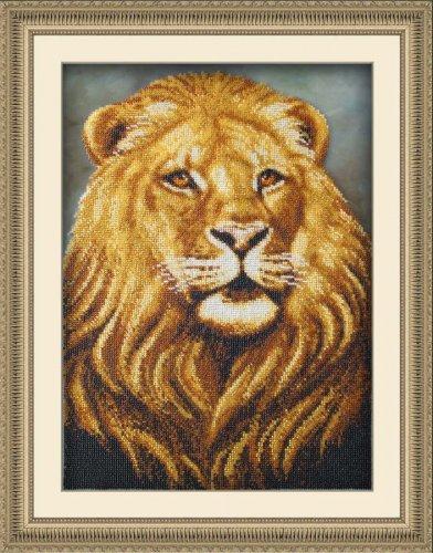 Набор для вышивания бисером Лев, 39 х 28 см695432