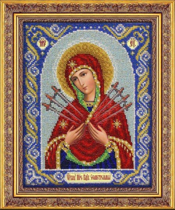 Набор для вышивания бисером Пресвятая Богородица Семистрельная, 25 см х 20 см697482