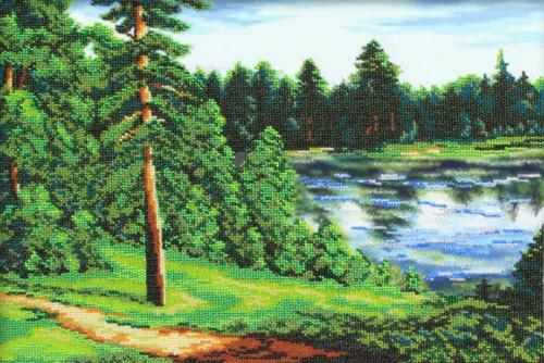 Набор для вышивания бисером Тихая река, 28 х 41 см 697491697491