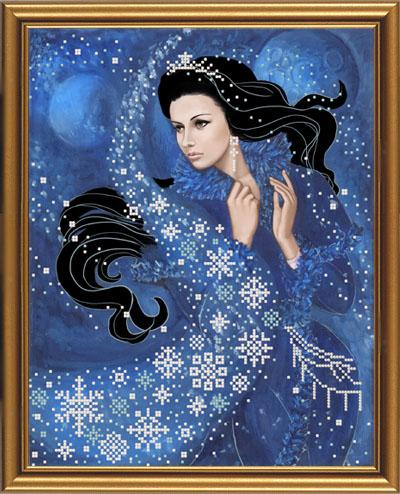 Набор для вышивания бисером Зимняя ночь, 26 х 33 см НД3055699338