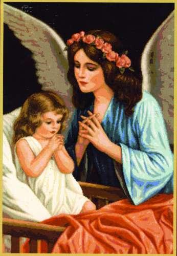 Набор для вышивания гобеленовым швом Гобелен Классик Молитва, 26,4 см х 36 см279058