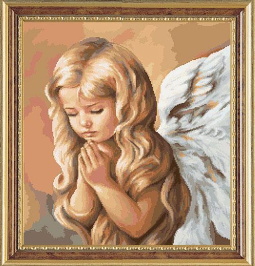 Набор для вышивания крестом Ангел 4, 34 х 36 см 386072386072