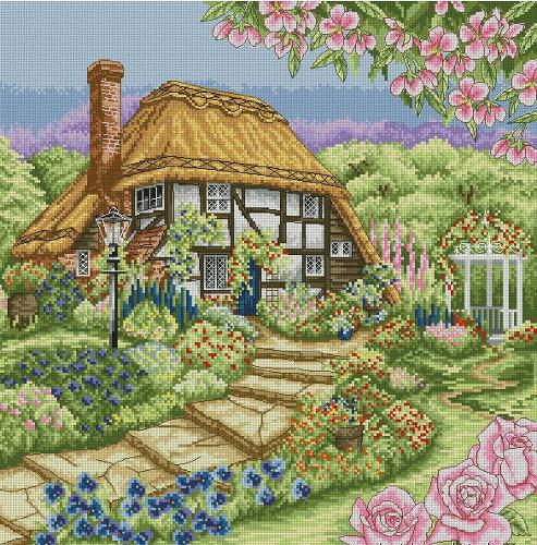 Набор для вышивания крестом Anchor Rose Cottage, 31 х 31 см PCE944655223В наборе для вышивания Anchor Rose Cottage есть все необходимое для создания собственного чуда: канва, нитки мулине, игла, схема рисунка, инструкция. Сколько положительных эмоций несет с собой вышивка, сделанная своими руками! Собственноручно выполненная работа - это эксклюзивная вещь, похожую которую вы нигде не найдете! В набор входят: - канва Aida 16 (белая) (100% хлопок), - нитки Anchor (100% хлопок), - игла, - черно-белая схема, - инструкция (универсальная).