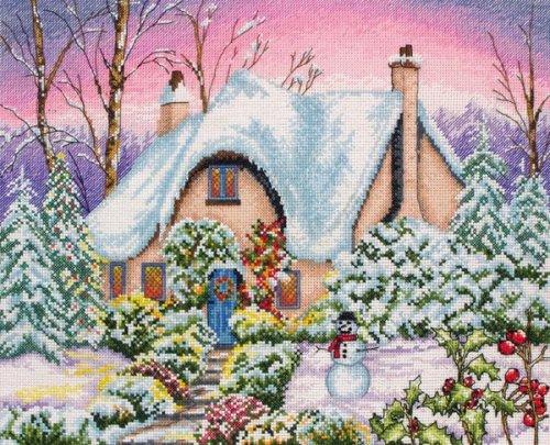 Набор для вышивания крестом Anchor Snow Cottage, 25 х 31 см PCE884655570В наборе для вышивания Anchor Snow Cottage есть все необходимое для создания собственного чуда: канва, нитки мулине, игла, схема рисунка, инструкция. Сколько положительных эмоций несет с собой вышивка, сделанная своими руками! Собственноручно выполненная работа - это эксклюзивная вещь, похожую которую вы нигде не найдете! В набор входят: - канва Aida 16 (розовая) (100% хлопок), - нитки Anchor (100% хлопок), - игла, - черно-белая схема, - инструкция (универсальная).