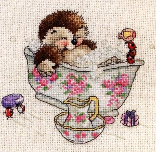 Набор для вышивания крестом Anchor Bubble Bath, 15 х 15 см CTM0005675455
