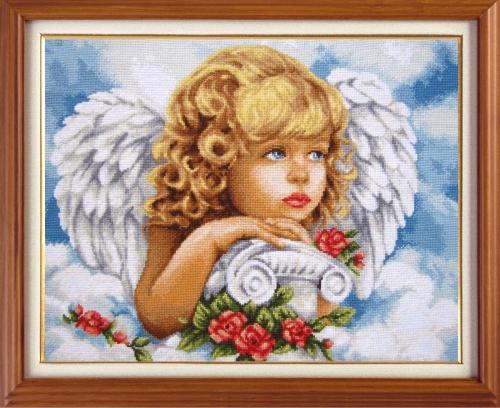 Набор для вышивания крестом Небесный ангел, 28,5 х 36 см7704965