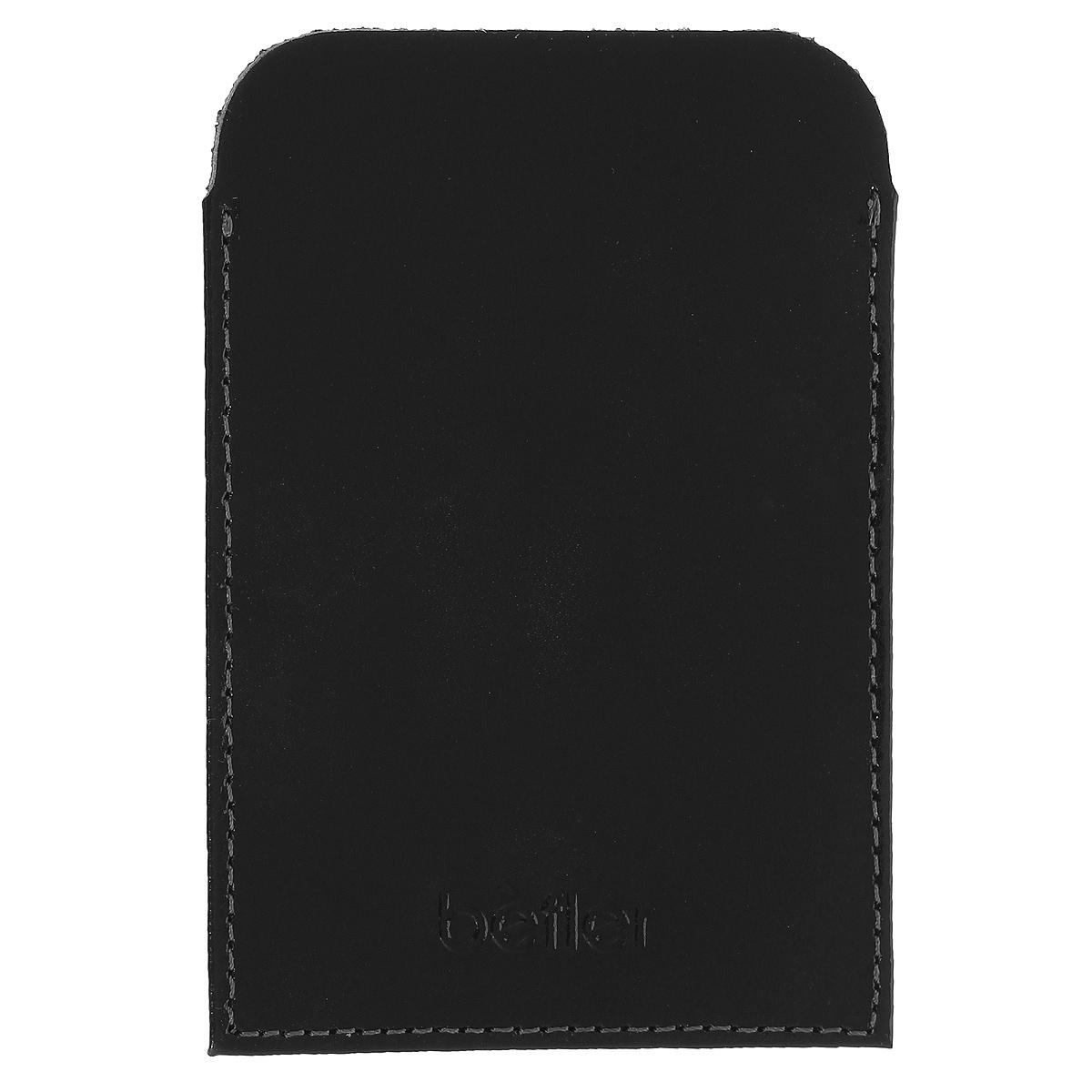 Обложка для удостоверения Befler Classic, цвет: черный. F.20.-1F.20.-1.blackОбложка для удостоверения Befler Classic выполнена из натуральной кожи, с внутренней стороны - пластиковый карман с выемкой. Также может быть предназначена для проездного билета метрополитена или кредитной карты.