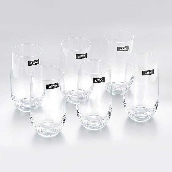 Набор стаканов Esprado Geo DEstilo, 460 мл, 6 штGD82C46E351Набор Esprado Geo DEstilo состоит из шести высоких стаканов. Стаканы изготовлены из хрустального стекла или хрусталина, которое является более экологичной альтернативой знаменитому хрусталю, содержащему опасный для здоровья свинец. Хрустальное стекло имеет яркий блеск хрусталя, отличается высокой прозрачностью и тонкостью и при этом оно абсолютно безопасно и не содержит никаких вредных для человека веществ. Стаканы отличаются особой легкостью и прочностью, излучают приятный блеск и издают мелодичный хрустальный звон. Края стаканов имеют закаленный обод. Стаканы Esprado Geo DEstilo станут идеальным украшением праздничного стола и отличным подарком к любому празднику. Стаканы можно мыть в посудомоечной машине в щадящем режиме. Коллекция барного стекла Geo dEstilo - воплощение геометрии стиля: ее отличают безупречные пропорции и четкие, почти жесткие линии. Современный дизайн бокалов не оставит равнодушным ценителей строгой простоты и изящества в деталях. ...