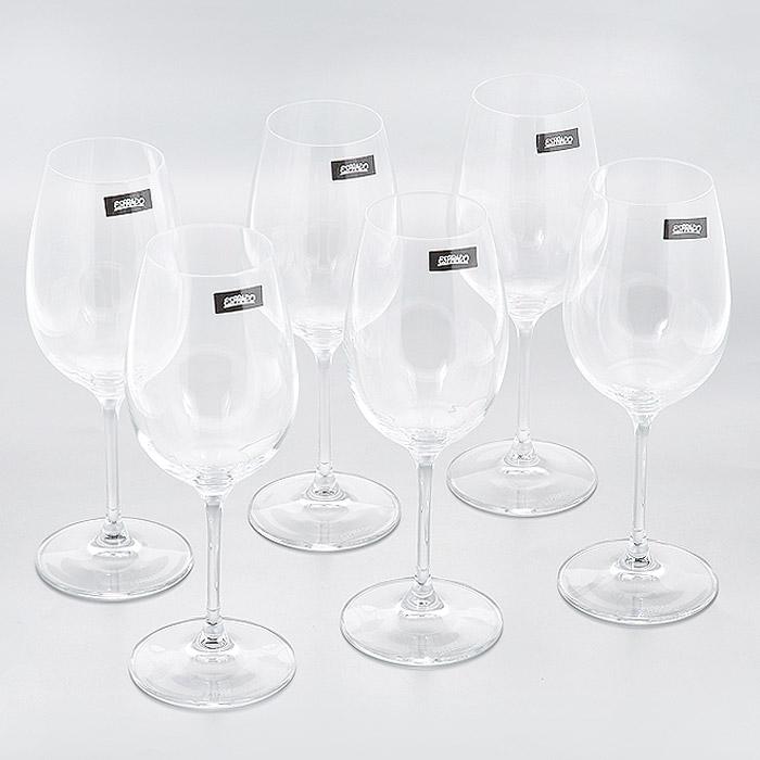 Набор бокалов для белого вина Esprado Geo DEstilo, 250 мл, 6 штGD50C25E351Набор Esprado Geo dEstilo состоит из шести бокалов для белого вина. Бокалы изготовлены из хрустального стекла или хрусталина, которое является более экологичной альтернативой знаменитому хрусталю, содержащему опасный для здоровья свинец. Хрустальное стекло имеет яркий блеск хрусталя, отличается высокой прозрачностью и тонкостью и при этом оно абсолютно безопасно и не содержит никаких вредных для человека веществ. Бокалы отличаются особой легкостью и прочностью, излучают приятный блеск и издают мелодичный хрустальный звон. Края бокалов имеют закаленный обод. Тонкие высокие ножки бокалов, создающие ощущение хрупкости и изящества, большой литраж и европейский дизайн позволят сполна насладиться игрой напитка в бокале, его густотой, цветом и ароматом. Бокалы можно мыть в посудомоечной машине в щадящем режиме. Коллекция барного стекла Geo dEstilo - воплощение геометрии стиля: ее отличают безупречные пропорции и четкие, почти жесткие линии. Современный дизайн...