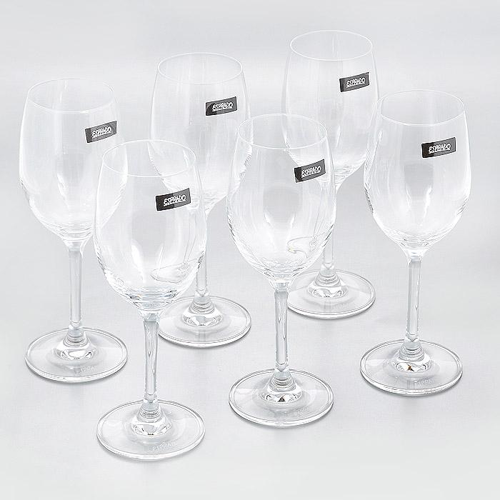 Набор бокалов для белого вина Esprado Encanto, 240 мл, 6 штEN50C24E351Набор Esprado Encanto состоит из шести бокалов для белого вина. Бокалы изготовлены из хрустального стекла или хрусталина, которое является более экологичной альтернативой знаменитому хрусталю, содержащему опасный для здоровья свинец. Хрустальное стекло имеет яркий блеск хрусталя, отличается высокой прозрачностью и тонкостью и при этом оно абсолютно безопасно и не содержит никаких вредных для человека веществ. Бокалы отличаются особой легкостью и прочностью, излучают приятный блеск и издают мелодичный хрустальный звон. Края бокалов имеют закаленный обод. Тонкие высокие ножки бокалов, создающие ощущение хрупкости и изящества, большой литраж и европейский дизайн позволят сполна насладиться игрой напитка в бокале, его густотой, цветом и ароматом. Бокалы можно мыть в посудомоечной машине в щадящем режиме. В череде будней так ценны редкие минуты отдыха - время, которое можно провести с родными, друзьями, с самим собой: сесть в любимое кресло, укрыться пледом, взять...