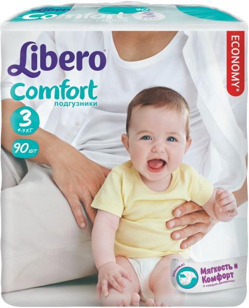 Libero Подгузники Comfort (4-9 кг) 90 шт