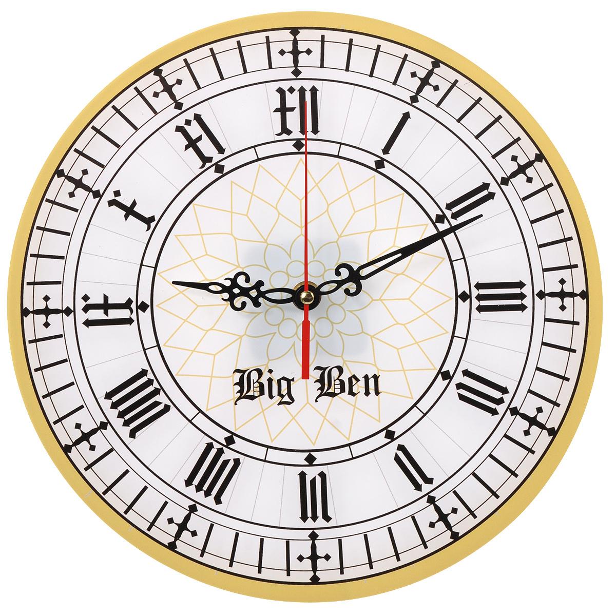 Часы настенные Big Ben, стеклянные. 9601296012Оригинальные настенные часы Big Ben круглой формы выполнены из стекла и оформлены орнаментом. Часы имеют три стрелки - часовую, минутную и секундную. Циферблат часов не защищен. Необычное дизайнерское решение и качество исполнения придутся по вкусу каждому. Оформите совой дом таким интерьерным аксессуаром или преподнесите его в качестве презента друзьям, и они оценят ваш оригинальный вкус и неординарность подарка.