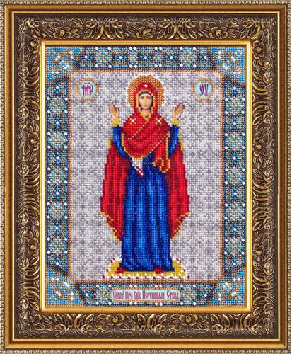 Набор для вышивания бисером Пресвятая Богородица Нерушимая стена, 25 см х 20 см. Б1028546227