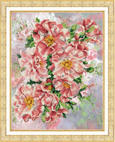 Набор для вышивания бисером Садовые розы, 28,5 х 36 см 546228546228