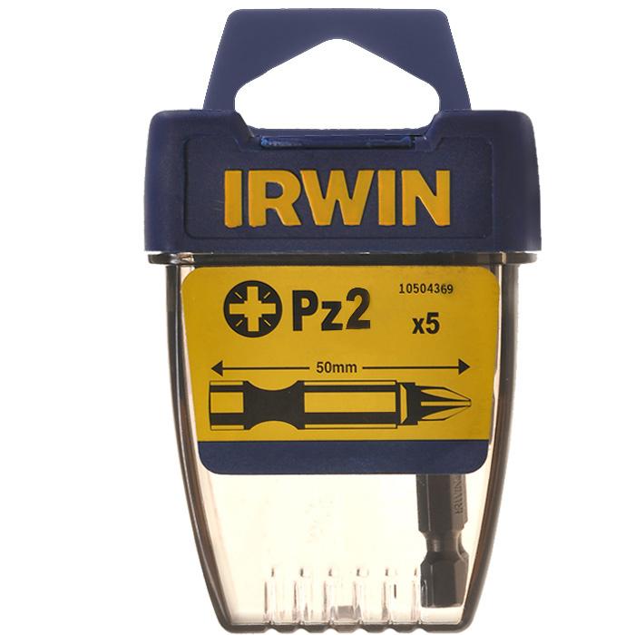 Набор усиленных крестовых бит Irwin, PZ2 х 50 мм, 5 шт10504369