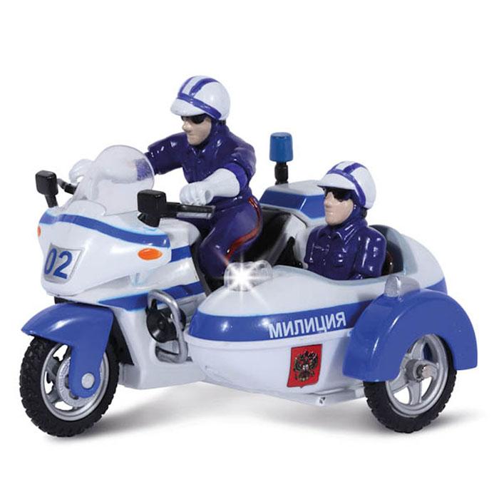 ТехноПарк Мотоцикл инерционный Полиция/МилицияCT-1247-2Инерционная игрушка ТехноПарк Мотоцикл Полиция/Милиция привлечет внимание вашего ребенка и не позволит ему скучать. Игрушка выполнена из пластика в виде полицейского (милицейского) мотоцикла. Мотоцикл снабжен люлькой с кнопкой-мигалкой, при нажатии на которую звучат различные сирены. Игрушка оснащена инерционным механизмом: стоит откатить мотоцикл назад, затем отпустить - и он молниеносно поедет вперед. В комплект также входят две съемные фигурки полицейских. Ребенок с удовольствием будет играть с этой игрушкой, придумывая разные истории. Порадуйте его таким замечательным подарком! Игрушка работает от батареек (товар комплектуется демонстрационными).