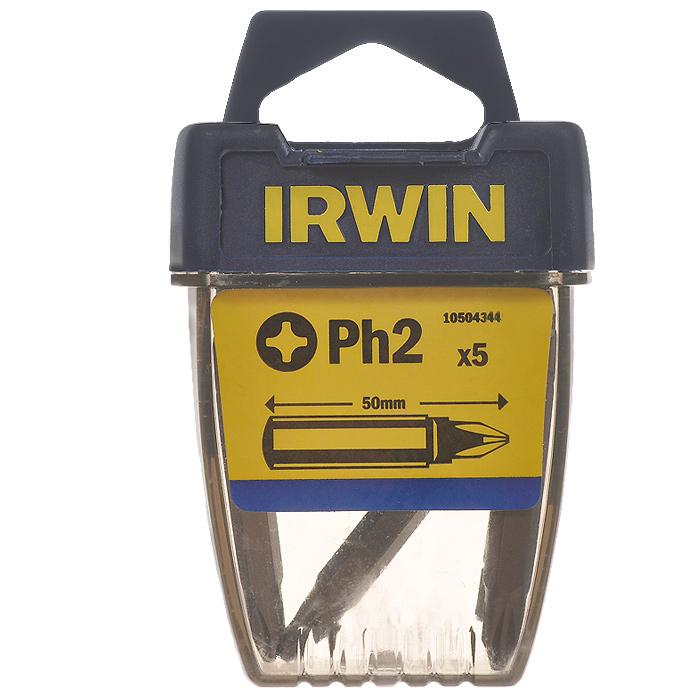 Набор крестовых бит Irwin, PZ2 х 50 мм, 5 шт 10504344