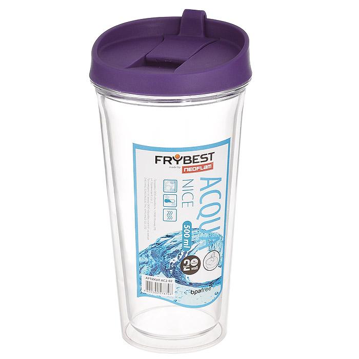"Стакан Frybest ""Nice"", цвет: фиолетовый, 500 мл. AC2-01"