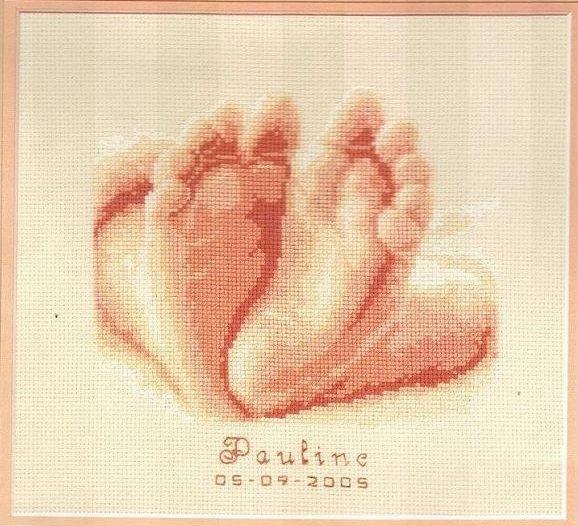 Набор для вышивания крестом Vervaco Десять маленьких пальчиков, 19 х 16 см647056