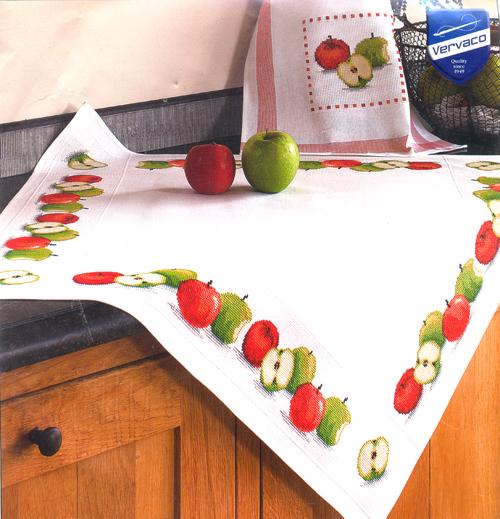 Набор для вышивания скатерти крестом Vervaco Яблоки, 80 х 80 см679409