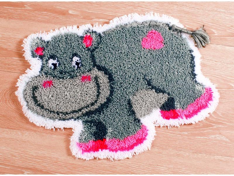 Набор для вышивания коврика Vervaco Бегемотик, 55 см х 45 см686342