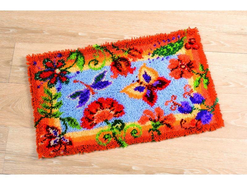 Набор для вышивания коврика Vervaco Декоративные цветы, 65 х 40 см697512