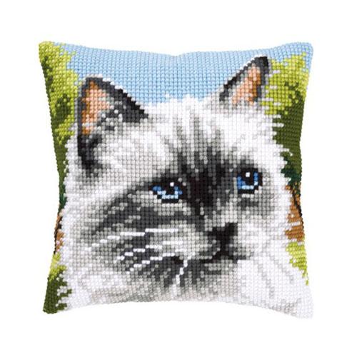 Набор для вышивания подушки крестом Vervaco Сиамская кошка, 40 х 40 см697525