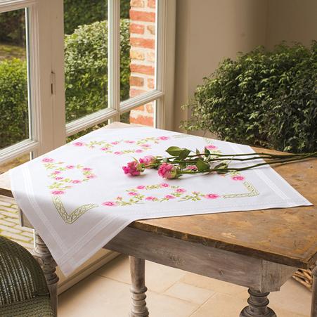 Скатерть для вышивания Vervaco Розы, 80 см х 80 см7707634