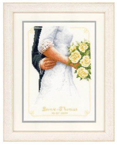 Набор для вышивания крестом Vervaco Свадебный букет, 20 см х 28 см7707650