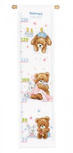 Набор для вышивания крестом Vervaco Милые медвежата, 18 см х 70 см7707652