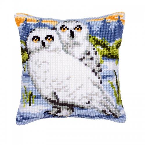 Набор для вышивания подушки Vervaco Снежные совы, 40 см х 40 см7707662