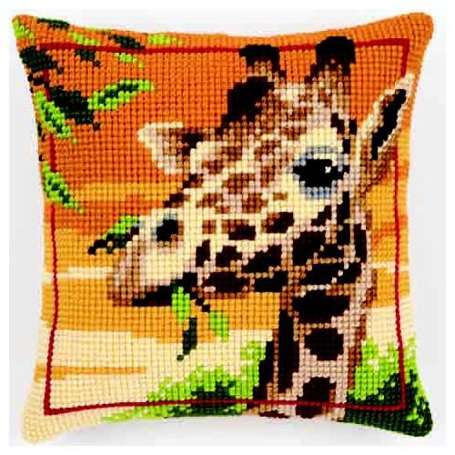 Набор для вышивания подушки крестом Vervaco Жираф, 40 см х 40 см929441