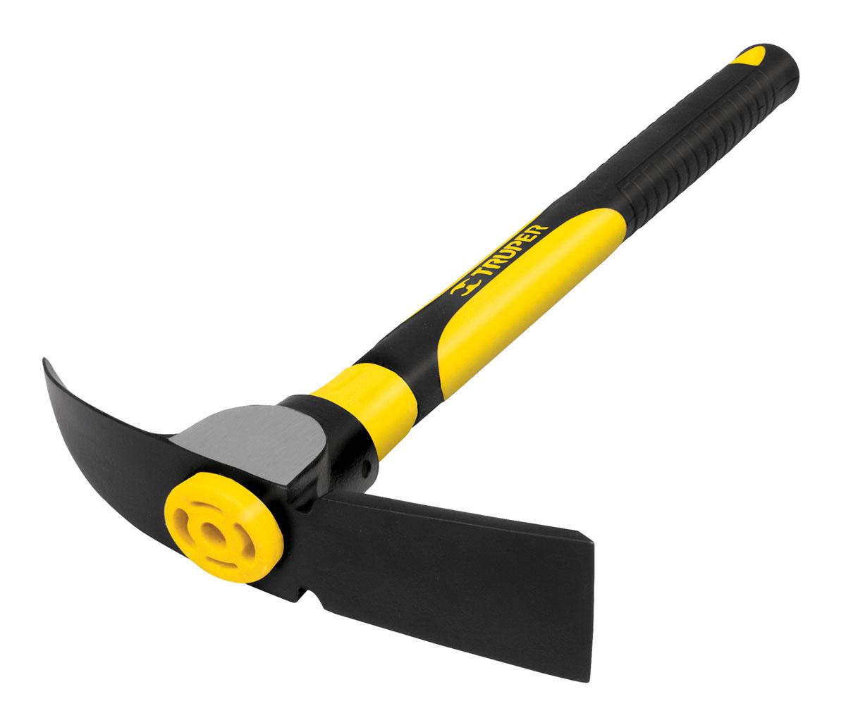 Кайло двухстороннее Truper, с фибергласовой ручкойTJA-1Кайло Truper предназначено для разрыхления твердого грунта при строительных и земляных работах. Инструмент прослужит в течение долгого времени, благодаря бойку из высококачественной стали. Инструмент оснащен удобной фиброгласовой рукояткой. Подойдет как для новичков, так и для профессионалов.