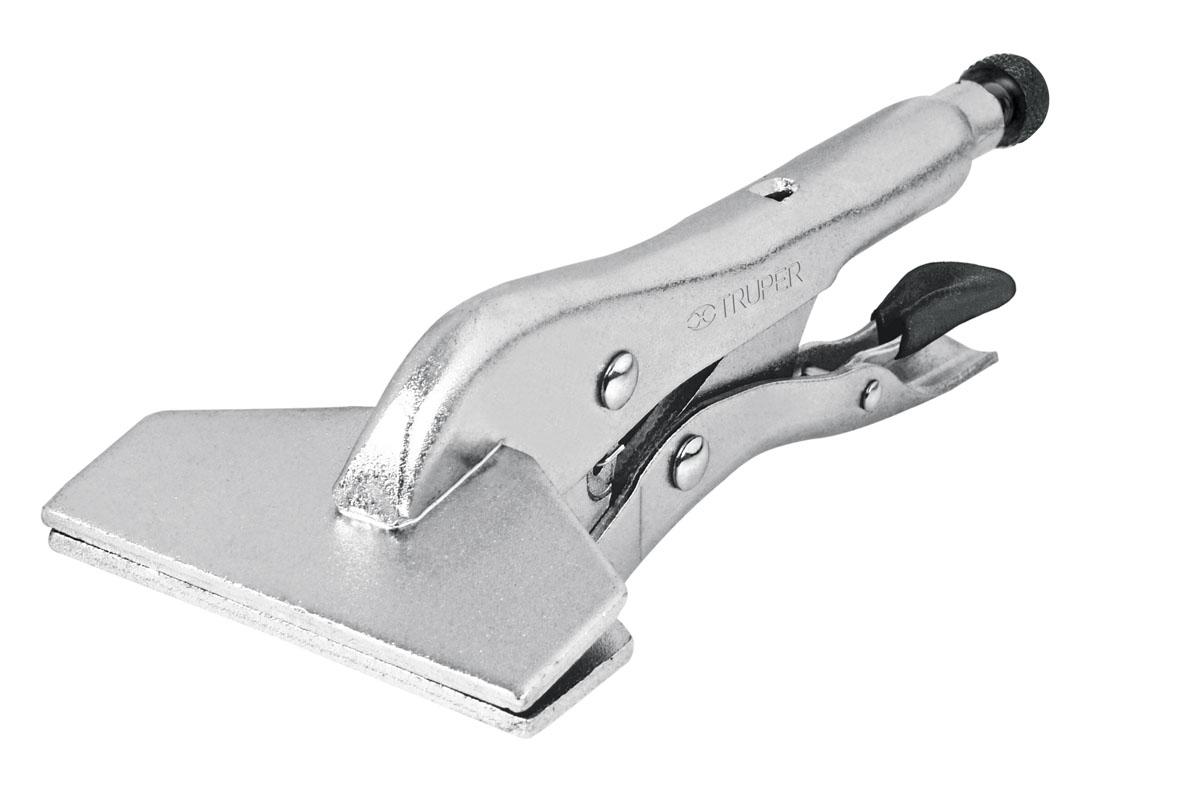 Клещи силовые Truper, специальные, 203,2 ммPPP-8RСиловые клещи Truper предназначены для работы с листовой сталью. Используются для изгибания металла и при сварочных работах. Регулировочный винт с головкой под шестигранный ключ. Клещи выполнены из нержавеющей стали.