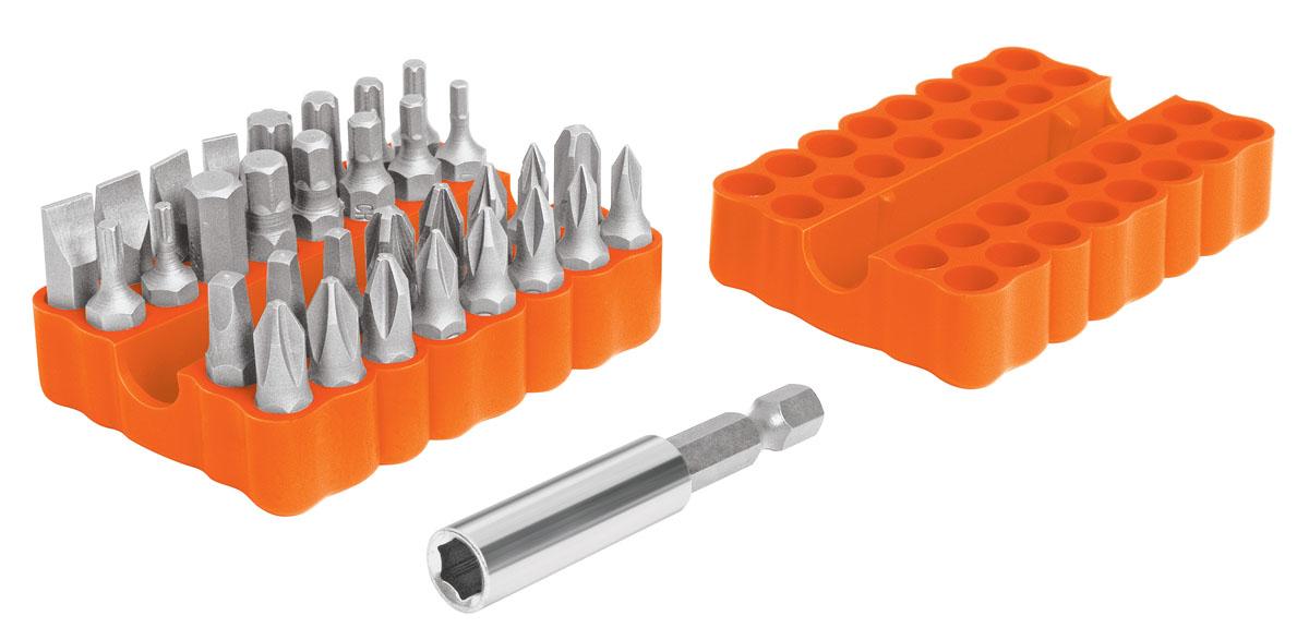 Набор бит Truper, 33 предмета - TRUPERPUN-33Набор бит Truper предназначен для монтажа/демонтажа резьбовых соединений. Набор оснащен удобными пластиковыми держателями. Биты изготовлены из