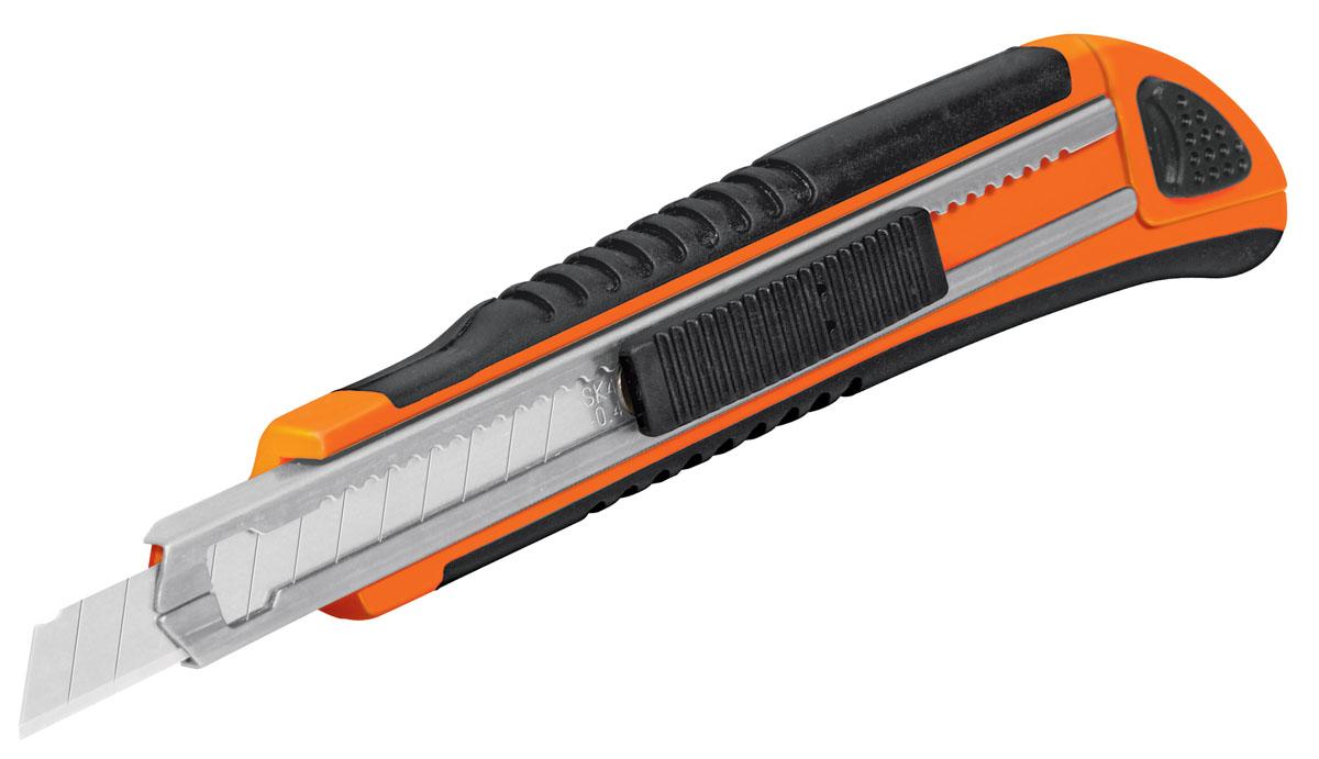 Нож с выдвижным лезвием Truper Cut-5X, 125 ммCUT-5XНож с выдвижным лезвием Truper Cut-5X предназначен для работы с ковровыми покрытиями, гипсовыми плитами, пленкой и т.д. Корпус ножа выполнен из прочного пластика. Выдвижное многосекционное лезвие изготовлено из высококачественной стали SK4. Имеет отсек для хранения лезвий. Обрезиненная рукоятка обеспечивает надежный и удобный хват. В комплекте 3 лезвия. Длина лезвия: 12,5 см.